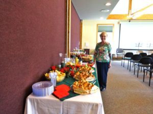 Loretta and her delicious spread (2)