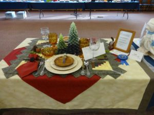 Andrea Smith designed this High Country Celebration Table which won a blue ribbon and the Best of Show First Place,